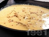Млечна супа с целина, гъби печурки